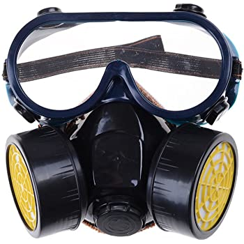 Gas Mask Emergency Survival Safety Respiratory Anti Dust Paint Spraying Decorate Protective Mask 2 Dual Filter Active Carbon Health Care