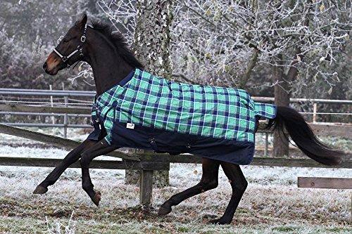 Regendecke 1200 Denier Outdoordecke Grün Karo 145 155 165 Fleece Fütter ohne Füllung Tysons (155 cm)