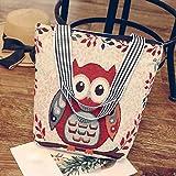 Handbag Shoulder Bag ,Amlaiworld Womens Canvas Cartoon Handbag Shoulder Messenger Bag Ladies Satchel Tote Bags (1PC, A)