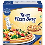 Pillsbury tawa pizza base mix delight your family with fresh pizzas made at home on your own tawa. Making pizzas at home is now easy like making roti's just add water to the mix to prepare fresh and tasty pizza bases on your tawa.