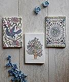 San Valentino regalo, Del Ringraziamento insieme di tre regali di deposito indya scrittura diario ufficiale fatti a mano con tessuto risvolto di copertina Classicoa e una chiusura del thread per gli uomini donne