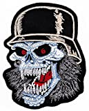 Werwolf Stahlhelm Aufnäher Bügelbild