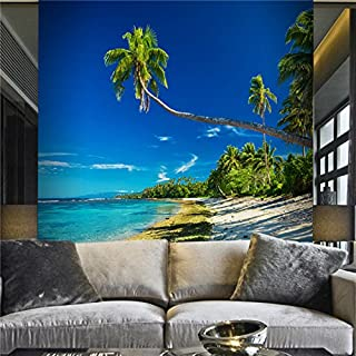 Large 3D Stereo Wallpaper Mural Palm Beach Beach Spectacular Landscape Bedroom Wall Background Wallpaper