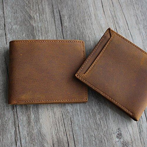 Kurze Brieftasche, Männer und Frauen, Geldbörse, retro-Tasche, kleine Tasche, Braun Brown