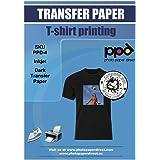 PPD A4 x 10 vellen PREMIUM Inkjet T-shirt Transfer Papier voor Inkjet printers - Transfer folie speciaal voor donkere textiel