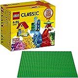 LEGO Classic 2er Set 10703 10700 Kreativ-Bauset Gebäude + Grüne Grundplatte