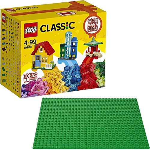 Lego Set: 10703 Caja del constructor creativo, multicolor + 10700 Base de color, multicolor