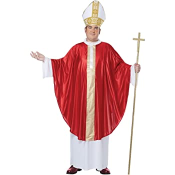 Mens The Pope Catholic Religious Religion Clergy Plus Size Fancy Dress  Costume 15c4688a2933