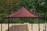 CLP Ersatzdach für 6 eckigen Pavillon | Textil-Dach Pavillon MANLEY + DUDLEY | Wetterschutz für Garten-Pavillon | In verschiedenen Farben erhältlich Braun