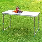 Finether Tavolino Pieghevole in Alluminio