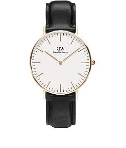 Daniel Wellington Damen Analog Quarz Uhr mit Leder Armband DW00100036