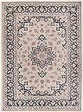 Grande Tapis d'Orient - BEIGE NOIR - Motif Persan Traditionnel et Oriental - Tapis de...