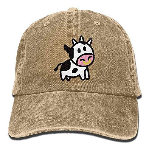 Cartoon Cow Trend Printing Cowboyhut Mode Baseball Cap für Männer und Frauen schwarz - Chauffeur-uniform