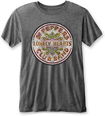 Rockoff Trade The Beatles SGT Pepper Drum Burnout T-Shirt Homme