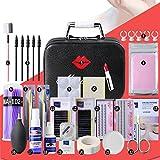 22Pcs Lash Starter Kit Pfropfen Wimpern Erweiterung Practice Set, Upgrade Deluxe Edition Schönheitssalon Unberührten Kleber Easy Grafting Make Up Tool