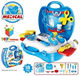 Toys Bhoomi Little Doctor's Bring Along Medical Clinic Suitcase Set - 18 Pieces