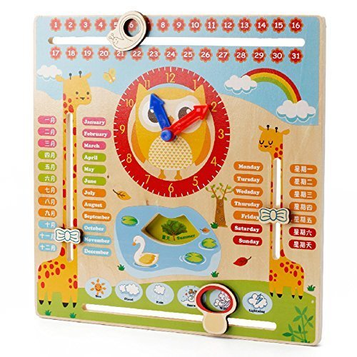Toy Arena Ancient Calander Clock Time Calender Learn Timing Days Week Months Seasin Year Etc in one