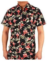 Chemise Schott SH Hawaï Noir à Fleurs