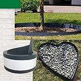 EXCOLO Gestaltungskante Beeteinfassungen Beetumrandung graue Einfassung für Steinbeet im Garten und Anlagen