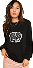 Leotude Womens Fullsleeve Hooded Sweatshirt