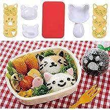 Pequeña bola de arroz molde Set, Lovely Cartoon patrón DIY Sushi Bento Nori molde de arroz