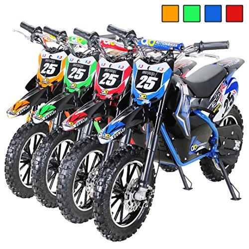 """Kinder Mini Elektro Crossbike""""Gepard"""" 500 Watt verstärkte Gabel 36 Volt Enduro Motorcrossbike Pocketbike (Blau)"""