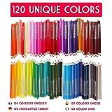 120 Buntstifte mit Metallbox von Zenacolor - 120 einzigartige Farben - Leichter Zugang mit 3 Fächern - Ideales Set für Künstler, Erwachsene und Kinder von Twinz Products