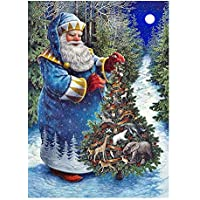 CLOOM weihnachtsdeko 5D Diamant Painting Full Festival Wanddekoration Wohnzimmer Schlafzimmer Dekoration für Home Wall Decor 5d Diamond Painting Set Groß Wandaufkleber Wandbilder (C)