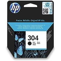 HP 304 Schwarz Original Druckerpatrone für HP DeskJet 2630, 3720, 3720, 3720, 3730, 3735, 3750, 3760; HP ENVY 5020, 5030…
