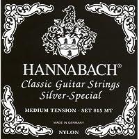 Hannabach Cuerdas para guitarra clásica Serie 815, Plateado Especial, Tensión media, Set