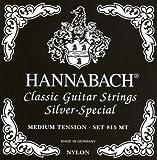 Hannabach 652527 Set Corde per Chitarra Classica Serie 815, Tensione Media, Argentato