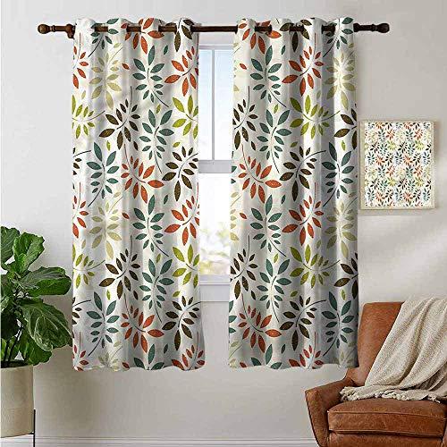 petpany Dekorative Vorhänge für Wohnzimmer Grunge,gestreifter Hintergrund Kreise, Verdunkelungsvorhänge für Schlafzimmer, Polyester, Color11, 42'x72'(W106cmxL182cm)