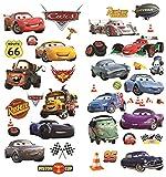 Autocollants muraux Cars 3D Cartoon pour les chambres garçons et filles sticker mural Taille: Grand 76 cm X 72 cm