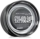 Maybelline New York Lidschatten Eyestudio Color Tattoo 24h Immortal Charcoal 55/Gel-Cream Eyeshadow Dunkelgrau metallic, langanhaltend, 1 x 4 g