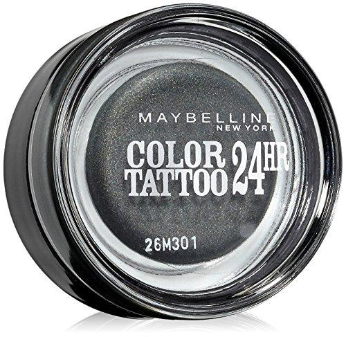 Maybelline New York Lidschatten Eyestudio Color Tattoo 24h Immortal Charcoal 55/Gel-Cream Eyeshadow...