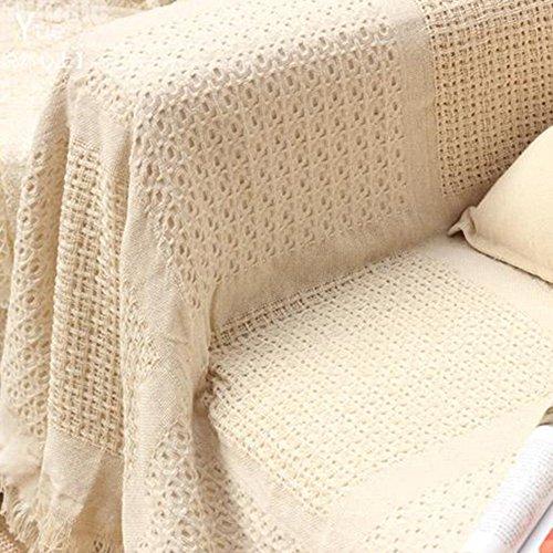YANGYAYA Housses de canapé Solid Color Housses canapé Couverture de canapé Couverture de Baie vitrée Tapis À 1,2,3,4 Coussin Couvre-Meubles Protector-A (1PCS)
