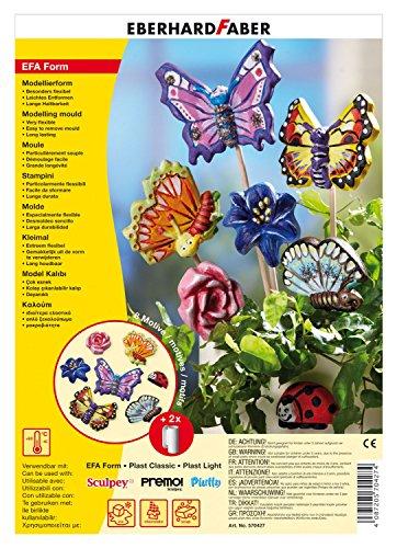 Eberhard Faber 570427 - EFAForm Modellierformen, Schmetterlinge
