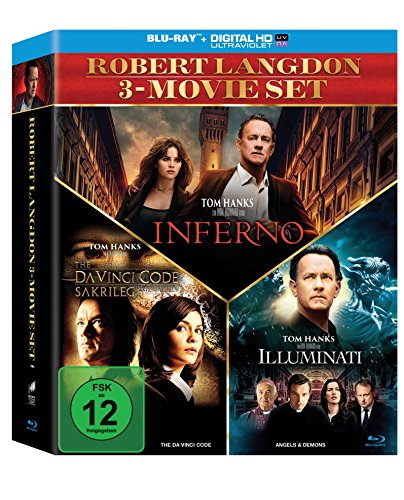Code-set (The Da Vinci Code - Sakrileg / Illuminati / Inferno (3er BD Set) [Blu-ray])