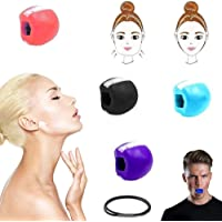 DINGJIUYAN Face shaper-Facial Toner Jaw Exerciser Jaw line Exercise Exerciser Fitness Ball Broad jaw muscle training…