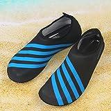 Wassersportschuhe Aquaschuhe Surfschuhe Strandschuhe Barfuß schuhe Yogaschuhe Neoprenschuhe mit Mehrfabe für Damen und Herren (40-42, blau)