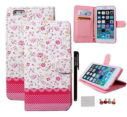 """Schutzhülle für iPhone 6/6S plus (5.5""""), xhorizon [Stand Funktion] [Brieftasche Funktion] [Magnetverschluss] Für Apple iPhone 6 Plus (5.5"""") Kontrastfarbe Leder Dünn Brieftasche TelefonCase Hülle mit  #8"""