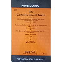 Constitution of India -- Constitution of India Bare Act