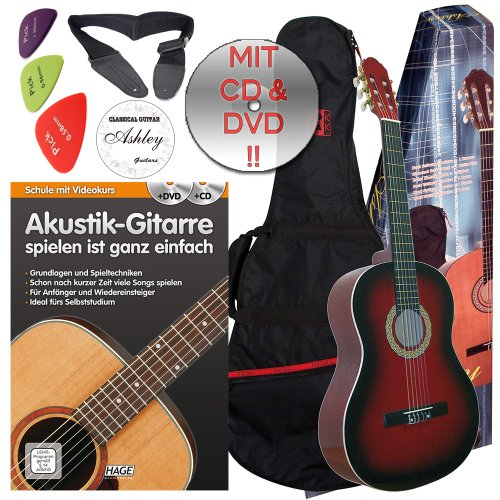 ashley-classical-concert-guitar-with-bag-colour-red-burst-4-4-size-suitable-from-approx-16-years