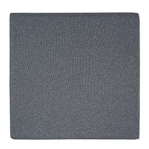 AmazonBasics - Cuscino per seduta, in memory foam, colore grigio, quadrato