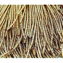 Hilo metálico lingotes de oro en bruto Purl hacer a mano vestido bordado por 3 Yard