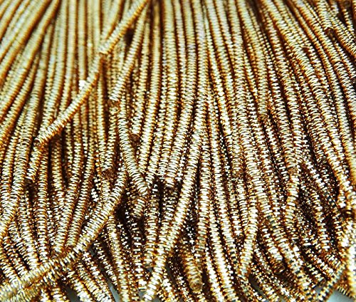 Gold-metallic-thread (Metallic Gold Bullion Raue Purl Crafting Kleid bestickt Thread Von 3 Yard)