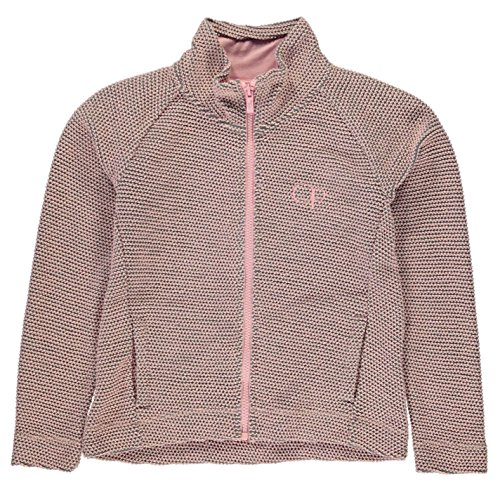 ocean-pacific-kinder-maedchen-waffle-zip-sweatshirt-sweatjacke-langarm-stehkragen-pink-7-8-sg