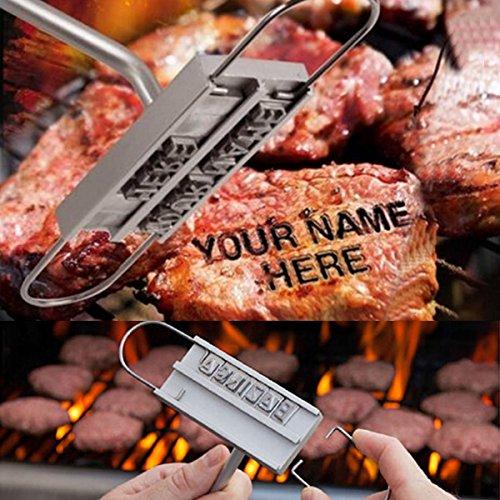[Spedizione gratuita  ~–7–12giorni] honana barbecue ID Branding ferro Strumenti con veraenderbaren 55lettere BBQ Steak carne Branding Iron BML®//change Able 55lettere barbecue ID Branding Iron