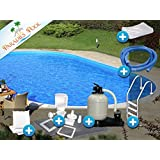 Pool Set Easy 3,20x6,00x1,50m oval Stahlwandbecken Komplettset Tiefbecken