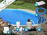 Pool Set Easy 3,50x7,00x1,50m oval Stahlwandbecken Komplettset Tiefbecken